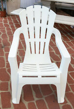 Outdoor Garden Patio Furniture Plastic Adirondack Deck Chair Italia Seat White