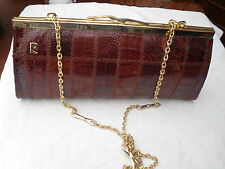 ANIMAL SKIN CLUTCH BAG WITH SHOULDER CHAIN