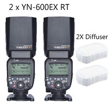 2Pcs YONGNUO Flash Speedlite YN600EX-RT for Canon AS Canon 600EX-RT