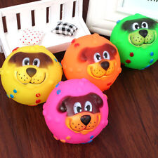 Fashion Pet Dog Giggle Ball Tough Treat Training Chew Sound Activity Toy Squeaky