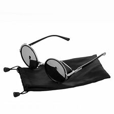 New Cyber Goggles Retro Vintage Blinder Steampunk Sunglasses 50s Round Glasses