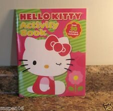 HELLO KITTY Coloring and  Activity Book  With Stickers NEW