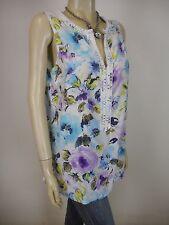 TOMMY BAHAMA Cotton Silk Sleeveless Top sz 12 14 - BUY Any 5 Items = Free Post