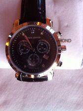 Chronograph mit Lederarmband schwarz; CHRONO DIAMOND Modell Nestor,  NEU OVP