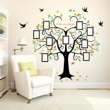 ✯ Family Photo Tree Birds Wall Art Stickers ✯ Vinyl Frame Decal Mural Pictures