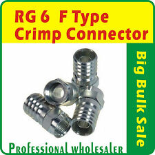 20 X RG6 F Type Crimp Connector FTA Pay Tv Satellite