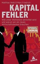 Kapitalfehler von M.Friedrich und M. Weik  2016 Gebundene Ausgabe - NEU / OVP