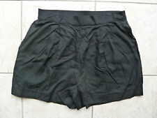 H&M Black High-Waisted Shorts Size 10 BNWT