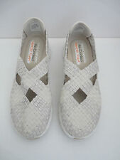 Skechers Size 5 Synergy Stretch Weave Cross Over Mary Jane Womens Trainers Shoes