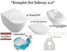 *KOMPLETT SET* Villeroy&Boch Subway 2.0 Direct Flush WC Bidet Sitz Schallschutz