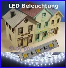 S545 10 piece LED Interior lighting 5cm WHITE ULTRA LIGHT for Houses G Gauge + 1
