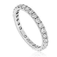 1.00carat Round Brilliant Cut Diamonds Full Eternity Wedding Ring in Platinum