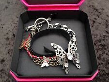 NIB Juicy Couture New Genuine Silver & Gold Multi Layered Butterfly Bracelet