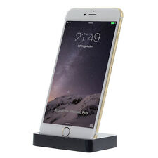 Dock Dockingstation iPhone 6 6S Plus 5 5C 5S SE Lade Gerät Daten Sync Schwarz