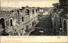 Eger Cheb Tschechien Ansichtskarte ~1910 Schloss Ruine Blick in den Bankettsaal