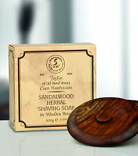 Taylor of old Bond Street Shaving Soap Sandalwood Wooden bowl 100g