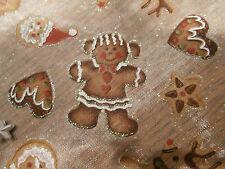 Deko Tischläufer Advent Weihnachten Braun Lebkuchen Herz Baum 1,5 METER Nikolaus