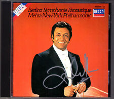 Zubin MEHTA Signiert BERLIOZ Symphonie Fantastique DECCA CD 1982 New York Phil