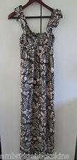 Dotti Long Summer Dress Size 10 Paisley Print Ruffle Straps