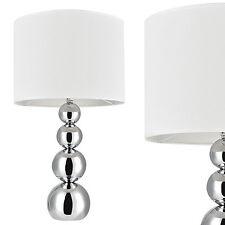 [lux.pro] Tischlampe Weiß [43 x Ø 25cm] Tischleuchte Nachttischlampe Leselampe