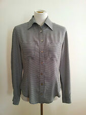 Effortless Style! Trent Nathan size 8 black & white shirt in excellent condition