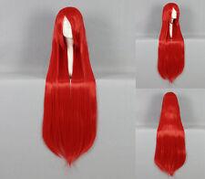 Ladieshair Cosplay Perücke glatt rot mit Pony ca. 100cm lang