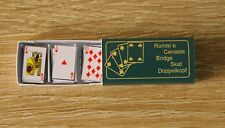 Kartenspiel Romme Bridge Miniatur 1:12 Puppenstube Puppenhaus Setzkasten Diorama