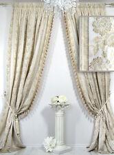 Vorhänge 2er-Set *Villa Catania S* mit Quastenborte, elegant, Blüten bestickt