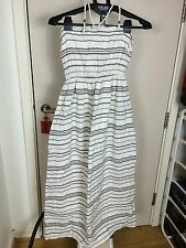 Gap linen White And Grey Stripe Maxi Dress Size S. Very Good Condition.