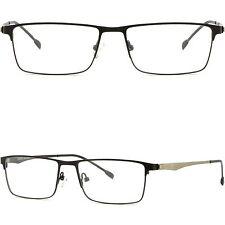 Lichte Herren Damen RX Brille Eckig Brillengestell Titan Metall Fassung Schwarz