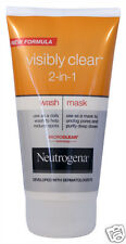 Neutrogena Visibly Clear 2-in-1 Wash Mask Help Reduce Spots Unclog Pores UK