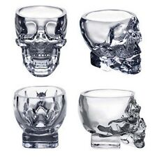 Crystal Glass Vodka Whiskey Skull Head Shot Cup Drinking Ware Home & Bar 73ml BS