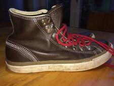 Converse brown leather trainers high tops UK 7 eur 40