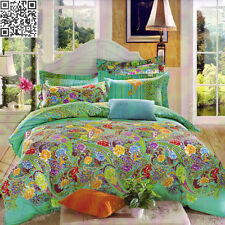 PAISLEY TEAL QUEEN Size Bed Doona Duvet Quilt Cover Set NEW Floral Pillow Cases