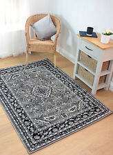 """Classic Persian Style Traditional Rug in Grey 120 x 170 cm (4'x5'6"""") Carpet"""