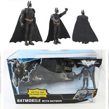 Batman Dark Knight Batmobile Tumbler Black Car Vehicle Toys With a Figure Box