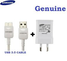 New Genuine 2A Samsung Galaxy S5 Note 3 AC Wall Charger Adapter+USB 3.0 Cable