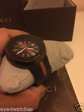 Gucci Unisex Sync Rubber Strap Watch, Black YA129731 MENS AND LADIES NEW BOXED