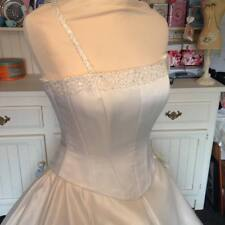 TRACEY CONNOP folio bridal bodice, fits sz 10, NEW ivory, optional straps, cryst
