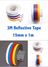 3M White Reflective Tape 15MM x 1 M Adhesive Vehicle Safety Viny sticker Strip