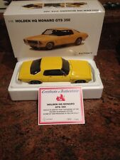 1:18 Biante Holden HQ GTS 350 Monaro Coupe in Yellow Dolly  Brand New