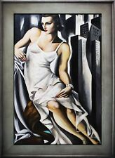 Tamara de Lempicka-Portrait der Madame Allan Bott-Ölgemälde Handgemalt 112x82cm