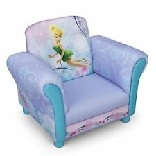 NEW DELTA CHILDREN DISNEY FAIRIES PINK UPHOLSTERED CHAIR KIDS PADDED ARMCHAIR