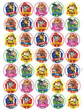 """SALE"" 35 x Paw Patrol Edible Rice/Wafer Cupcake toppers"