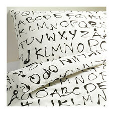 Ikea Eivor Ord Alphabet King Size Bed Duvet Cover with 4 pillowcases