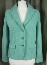 Laura Ashley Mint Green Lambswool Jacket - Size 10 EXCELLENT CONDITION