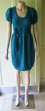 2b bebe Designer Dress Woolen Knitted Dress Short Sleeve Size-10 Emerald Green