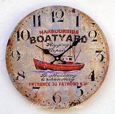 Maritime Deko Wanduhr maritim Bad Schiff Boot Wanddeko Badezimmer Dekoration