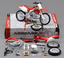 Maisto 1:12 Honda CRF450R Assembly line kit Motorcycle Motocross Bike Model Toy