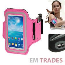 Sport Armband für Samsung Galaxy S4 mini Schutz Hülle Tasche Pink Jogging Bag 26
